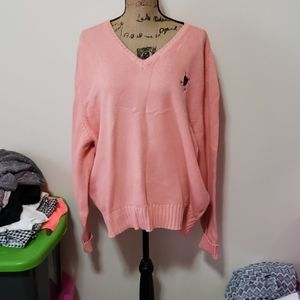 Xl peachie pink ralph lauren polo sweater